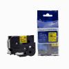Utángyártott szalag Brother TZ-661 / TZe-661, 36mm x 8m, fekete nyomtatás / sárga alapon