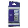 Utángyártott szalag Brother TZ-FX111/TZe-FX111, 6mm x 8m, flexi, fekete nyomtatás / átlátszó alapon