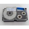 Utángyártott szalag Casio XR-12WEB 12mm x 8m kék nyomtatás / fehér alapon