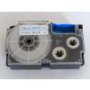 Utángyártott szalag Casio XR-18WEB 18mm x 8m kék nyomtatás / fehér alapon