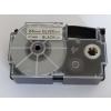 Utángyártott szalag Casio XR-24SR1 24mm x 8m fekete nyomtatás / ezüst alapon