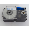 Utángyártott szalag Casio XR-24WEB 24mm x 8m kék nyomtatás / fehér alapon