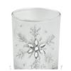 Üveg mécsestartó hópehely