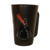 . Üvegbögre, fekete, Star Wars Darth Vader dekorral, 270ml