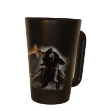 . Üvegbögre, fekete, Star Wars Kylo Ren dekorral, 270ml ajándéktárgy
