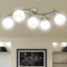 Üvegbúrás mennyezeti lámpa hullámos tartóelemen kültéri világítás