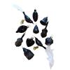 Üvegkarácsonyfadíszek Black 12db figura