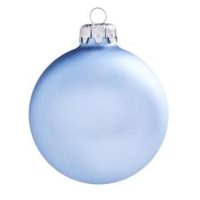 Üvegkarácsonyfadíszek Matt jégkék gömb 8cm-es 6db karácsonyi dekoráció