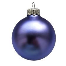 Üvegkarácsonyfadíszek Matt orgona lila gömb 10cm-es 4db karácsonyi dekoráció
