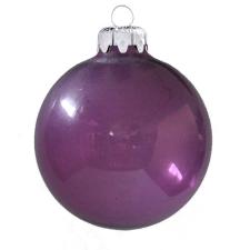 Üvegkarácsonyfadíszek Transzparens orgona lila gömb 6cm-es 6db karácsonyi dekoráció