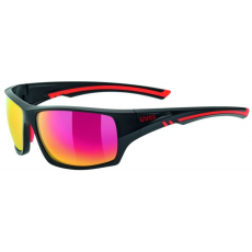 Uvex Sportstyle 222 Polarized Black Mat Red-Polavison Mirror Red S3