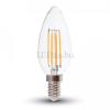 V-tac 4W Filament Retro LED izzó (E14, 400 lumen, meleg fehér)