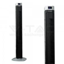 V-tac 55W Torony ventilátor hőmérséklet kijelzővel és távirányítóval fekete színű - 7901 világítás