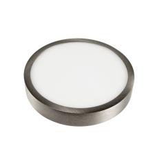 V-tac felületre szerelhető kerek LED lámpa panel, matt króm, 12W - 6400K - 6369 világítás
