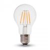 V-tac Retro LED izzó - 4W Filament E27 A60 Hideg fehér - 7120