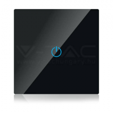 V-tac SMART WIFI-s Érintős kapcsoló fekete - 8423 villanyszerelés