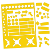 Válogatott mágneses szimbólumok, 20 mm, citromsárga
