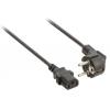 Valueline tápkábel Schuko hajlított apa - IEC-320-C13 5.00 m fekete