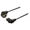 Valueline tápkábel Schuko hajlított apa - IEC-320-C13 hajlított 2.00 m fekete