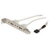 Valueline USB 2.0 Kábel 2x A Aljzat - 8-Pólusú Aljzat 0.50 m Szürke Valueline vlcp74800e05