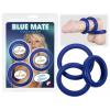 Vastagfalú szilikongyűrű trió (kék)