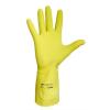 Védőkesztyű, latex, 8-as méret, sárga