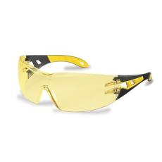. Védőszeműveg, sárga lencse, UVEX,