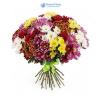 Vegyes színű krizantém virágcsokor