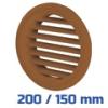 VENTS barna szellőzőrács, bútorrács rovarhálós (200/150 mm)