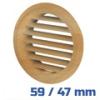 VENTS bükk szellőzőrács, bútorrács (59/47 mm)