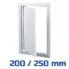 VENTS ellenőrző ablak, műanyag, fehér (200/250 mm)