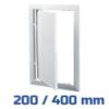 VENTS ellenőrző ablak, műanyag, fehér (200/400 mm)