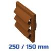 VENTS gravitációs zsalu, barna (250/150 mm) csőcsatlakozóval