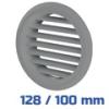 VENTS szellőzőrács, bútorrács szürke rovarhálós (128/100 mm)
