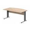 Vénusz irodabútor AVA fémlábas íróasztalok EI-180/100-AVA Vezetői íróasztal íves kialakítással, AVA fémlábbal, 180 x 100 cm-es méretben