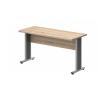 Vénusz irodabútor AVA fémlábas íróasztalok EK-140/62-AVA Egy oldalon kerekített íróasztal AVA fémlábbal 140X 62 cm-es méretben