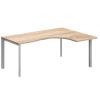 """Vénusz TREND fémlábas asztalok GB-200/140-J-TR L"""" alakú operatív íróasztal Trend fémlábbal jobbos kivitelben 200x x140 cm-es méretben"""