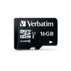 Verbatim 16GB Class10 microSDHC memóriakártya + adapter