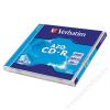 Verbatim CD-R lemez, Crystal bevonat, AZO, 700MB, 52x, normál tok, VERBATIM DataLife Plus (CDV7052)