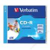 Verbatim CD-R lemez, nyomtatható, matt, ID, 700MB, 52x, normál tok, VERBATIM (CDV7052N)