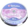 Verbatim DVD + R 8x kétrétegű 10p cakebox