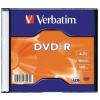 Verbatim DVD-R lemez 16x slim tokban