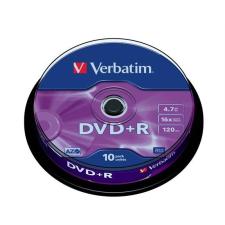 Verbatim DVD+R lemez, AZO, 4,7GB, 16x, hengeren, VERBATIM (DVDV+16B10) írható és újraírható média