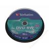Verbatim DVD-RW lemez, újraírható, 4,7GB, 4x, hengeren, VERBATIM (DVDVU-4B10)