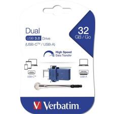 """Verbatim Pendrive, 32GB, USB 3.0+USB-C adapter, VERBATIM, """"DUAL"""" pendrive"""