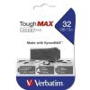 "Verbatim Pendrive, extra ellenálló, 32GB, USB 2.0, VERBATIM ""ToughMAX"", fekete"