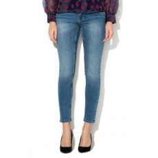 Vero Moda , Mella slim fit farmernadrág, Mosott kék, L-L32 (10201808-MEDIUM-BLUE-DENIM-L-L32)