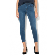 Vero Moda , Teresa skinny fit farmernadrág, Sötétkék, XL-L32 (10201796-DARK-BLUE-DENIM-XL-L32)