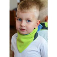 Veronika Girglová Gyerek kétoldalas fleec nyakkendő VG kék-lime