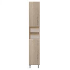 Vertex Bianca Plus 30 magas szekrény 2 ajtóval, nyitott, sonoma tölgy színben, univerzális bútor